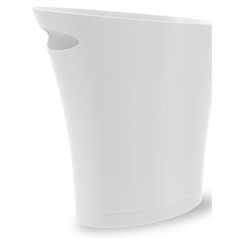 Kosz na śmieci Skinny 34x33 cm biały