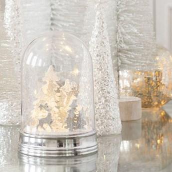 Lampka świąteczna Cone Star LED Ø8x25 cm biała