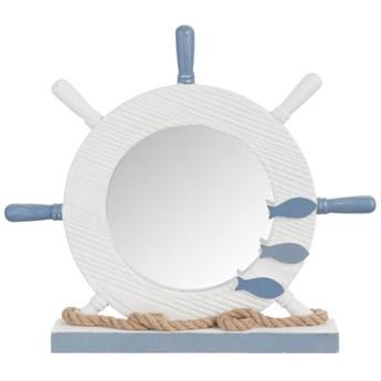 Lustro stojące Rudder 43x38 cm biało-niebieskie