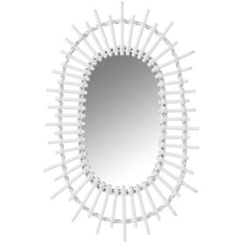 Lustro wiszące Oval Sun 30x50 cm białe