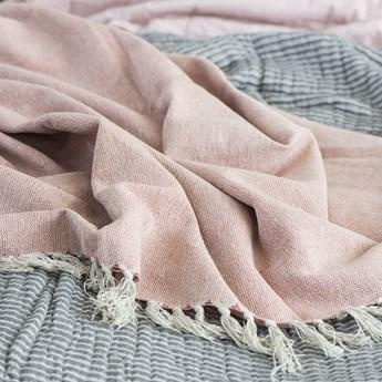 Narzuta Pietro 160x130 cm różowo-beżowa