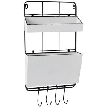 Organizer ścienny Rack 4 Hangers 30x50 cm biało-czarny