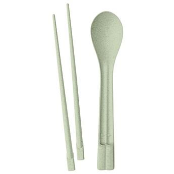 Pałeczki turystyczne z łyżką Dynasty Organic zielone