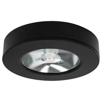 Panel LED natynkowy  Ø11x2 cm 3000k czarny