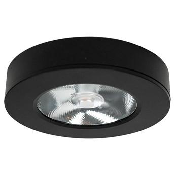 Panel LED natynkowy Ø11x2 cm 4000k czarny