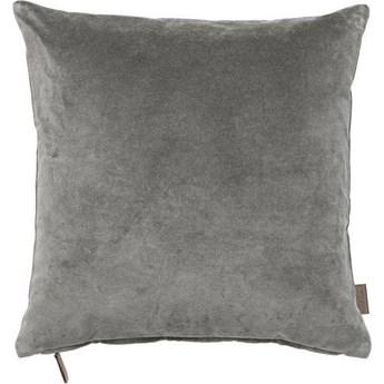 Poduszka dekoracyjna aksamitna Cozy 50x50 cm szara