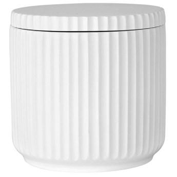Pojemnik łazienkowy z pokrywką Marlena Ø9x9 cm biały