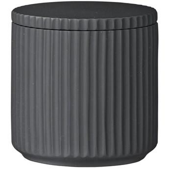 Pojemnik łazienkowy z pokrywką Marlena Ø9x9 cm grafitowy