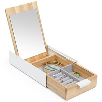 Pudełko na biżuterię Reflexion 24x14 cm naturalno-białe