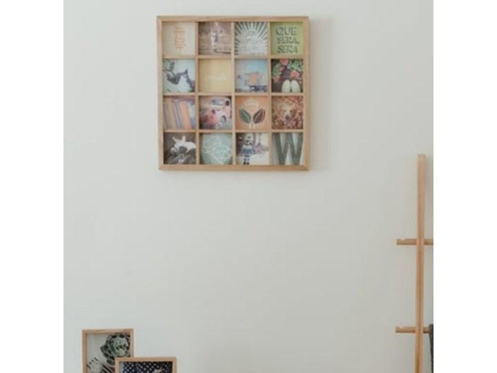 Ramka Gridart 43x43 cm drewniana Drewno Multiramka Kolor Beżowy