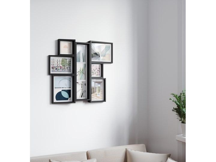Ramka na zdjęcia Edge Mutli Wall 53x58 cm czarna Kolor Czarny