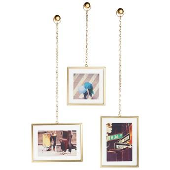 Ramka na zdjęcia Fotochain 40x14 cm złota (3-Set)