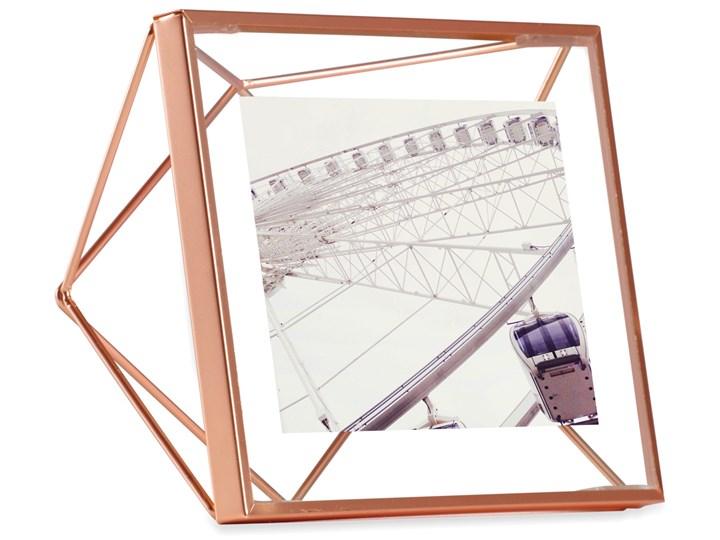 Ramka na zdjęcia Prisma 15x15 cm miedziana Metal Stojak na zdjęcia Kolor Miedziany