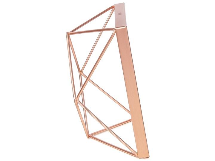 Ramka na zdjęcia Prisma 15x15 cm miedziana Kolor Miedziany Metal Stojak na zdjęcia Pomieszczenie Salon