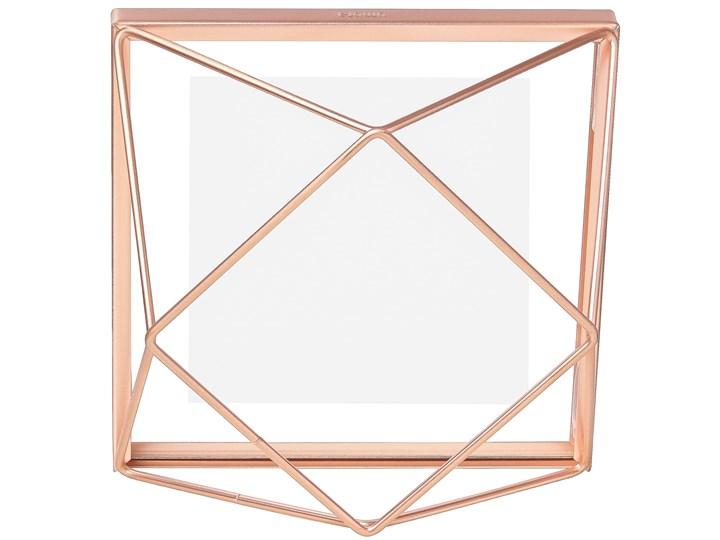 Ramka na zdjęcia Prisma 15x15 cm miedziana Stojak na zdjęcia Metal Pomieszczenie Salon