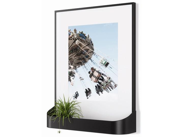 Ramka na zdjęcia z półką Matinee 31x39 cm czarna Tworzywo sztuczne Kolor Czarny