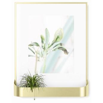 Ramka na zdjęcia z półką Matinee 31x39 cm złota