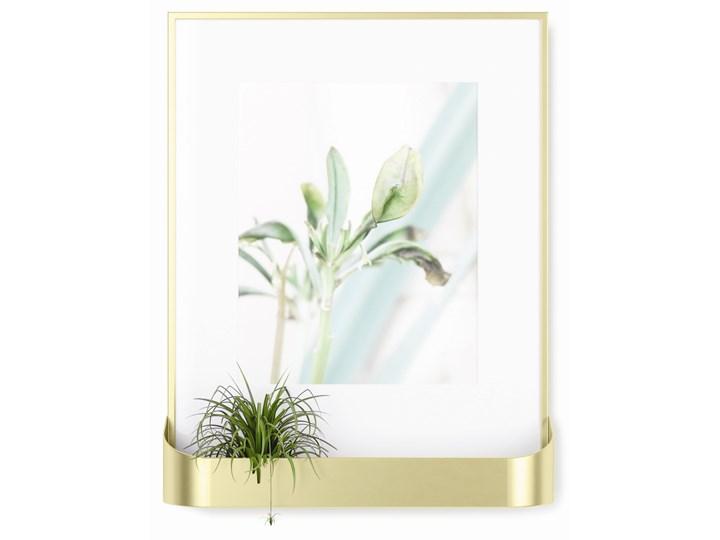 Ramka na zdjęcia z półką Matinee 31x39 cm złota Tworzywo sztuczne Kolor Złoty