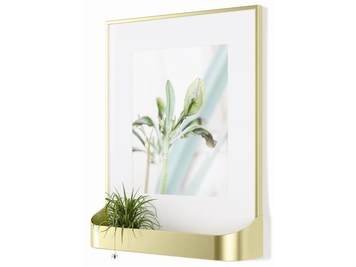 Ramka na zdjęcia z półką Matinee 31x39 cm złota Kolor Złoty Tworzywo sztuczne Kategoria Ramy i ramki na zdjęcia