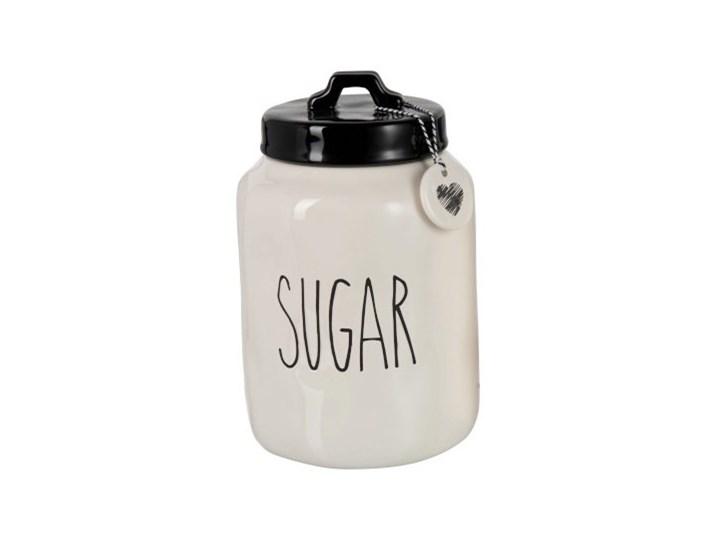 Słoik Sugar ∅15x23 cm biało-czarny