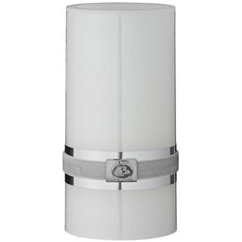 Świeca LED Pillar Ø8x15 cm biała