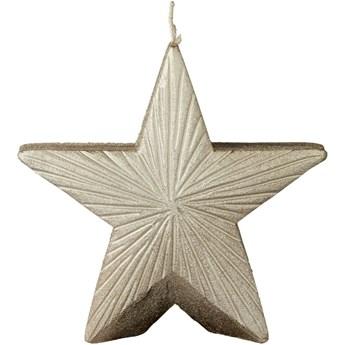 Świeca Nordic Star 12x11 cm złota