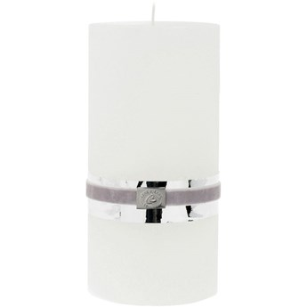 Świeca Rustic Ø10x20 cm biała