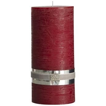 Świeca Rustic Ø10x20 cm ciemnoczerwona