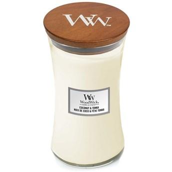 Świeca zapachowa duża Woodwick Coconut  Tonka