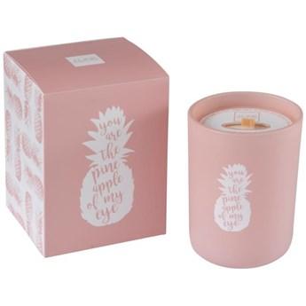 Świeca zapachowa Pineapple Ø9x12 cm różowa