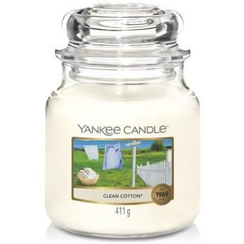 Świeca zapachowa średnia Yankee Candle Clean Cotton