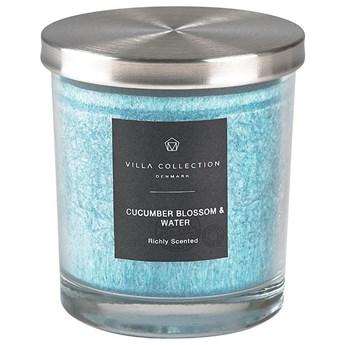 Świeca zapachowa Villa Collection z metalową pokrywką 9x10 cm o zapachu kwiatu ogórka i wody