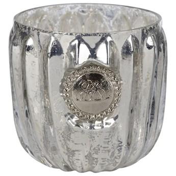 Świecznik Dante Ø6x7 cm antyczne srebro