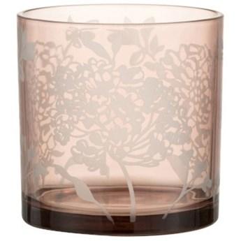 Świecznik Flowery Ø15x15 cm różowy