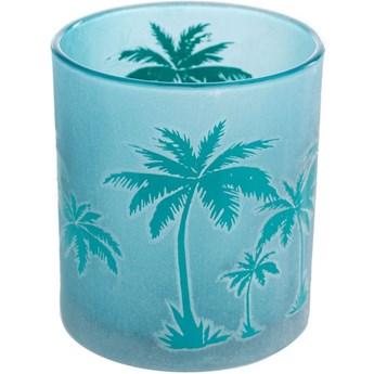 Świecznik na tealighty Palm Trees Ø7x8 cm niebieski