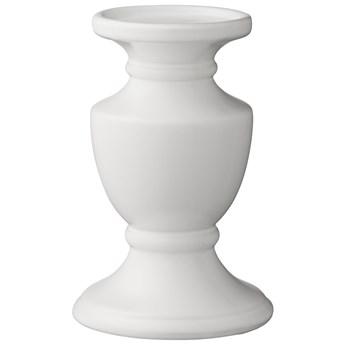 Świecznik Pretoria Ø12x19 cm biały