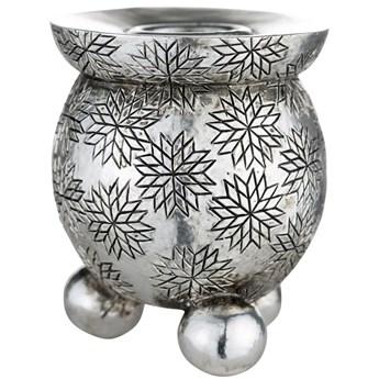 Świecznik Serafina Ø6x8 cm antyczne srebro