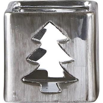 Świecznik Varis Christmas Tree 6x6 cm srebrny