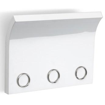 Wieszak z organizerem Magnetter 15x20 cm biały