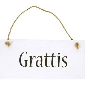 Zawieszka drewniana Grattis
