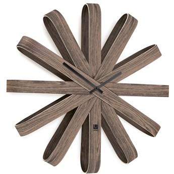 Zegar Ribbonwood 52x10 cm orzechowy