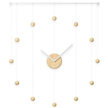 Zegar ścienny Hangtime Ø64 cm biało-naturalny