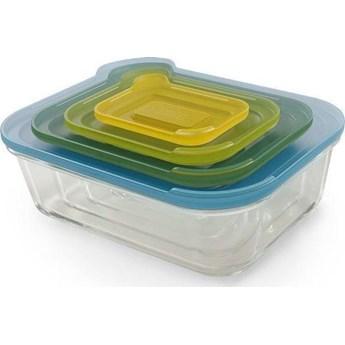 Zestaw 4 szklanych pojemników Nest Glass Storage