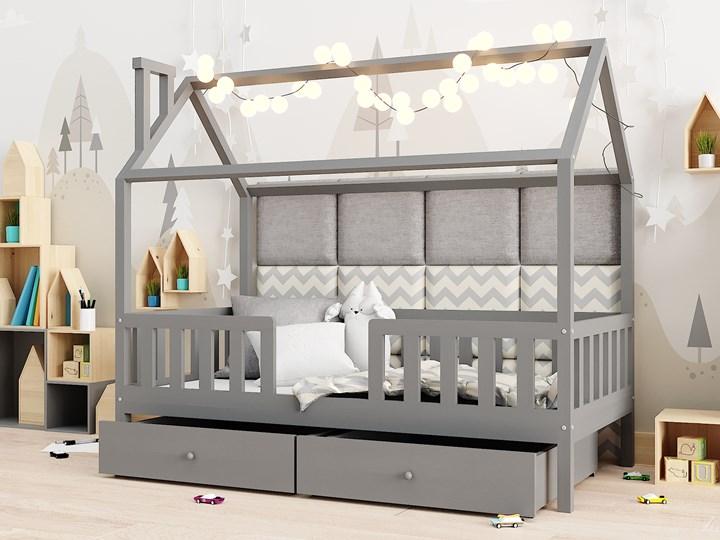 Łóżeczko RYŚ   z podwójną szufladą, szary Domki Drewno Kategoria Łóżka dla dzieci