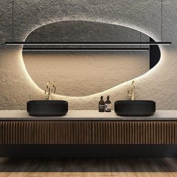 Lustro podświetlane o organicznym kształcie Plama no.1