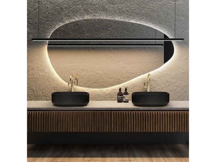 Lustro podświetlane o organicznym kształcie Plama no.1 Nieregularne Kategoria Lustra Pomieszczenie Salon