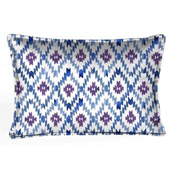 Niebiesko-biała dekoracyjna poszewka na poduszkę Velvet Atelier Formentera, 50x25 cm