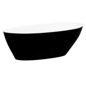 Wanna wolnostojąca Goya XS, B&W, 142x62 cm, owalna, biała/czarna