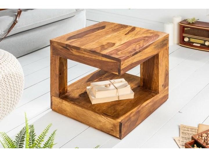 Stolik Giant S Wysokość 40 cm Wysokość 45 cm Kształt blatu Kwadratowe Drewno Kategoria Stoliki i ławy