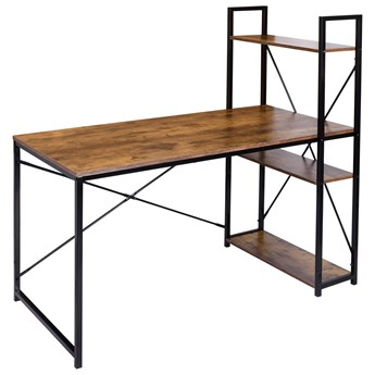 Biurko loftowe z półkami z nadstawką loftowe Trosa